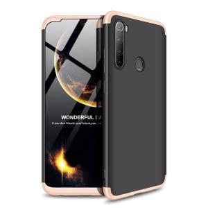 Θήκη GKK Full body Protection 360° από σκληρό πλαστικό για Xiaomi Redmi Note 8 μαύρο / χρυσό