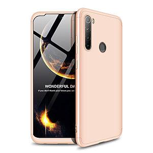 Θήκη GKK Full body Protection 360° από σκληρό πλαστικό για Xiaomi Redmi Note 8 χρυσό