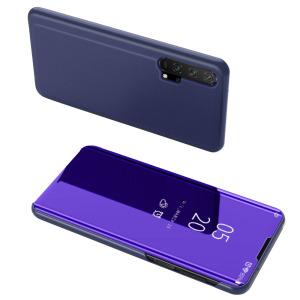 Θήκη Honor 20 Pro OEM Mirror Surface View Stand Case Cover Flip Window μωβ