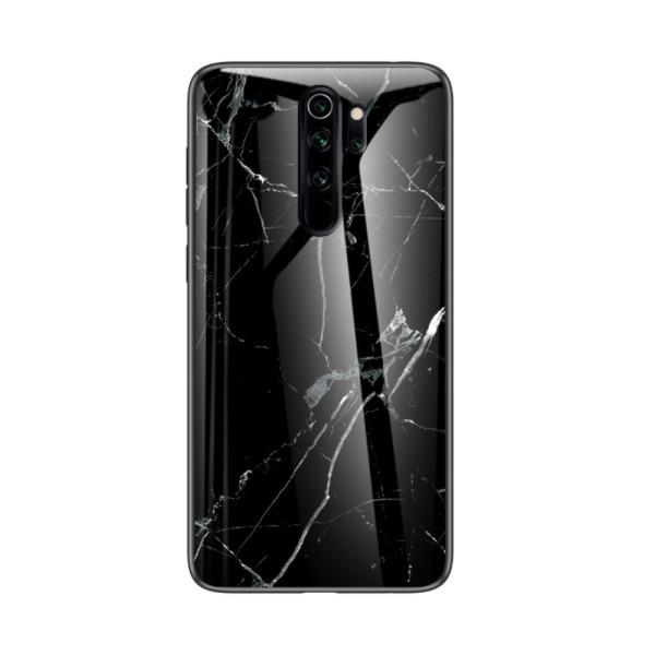 Θήκη Xiaomi Redmi Note 8 Pro OEM σχέδιο Marble Tempered Glass Back Cover TPU μαύρο