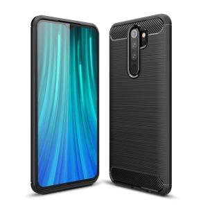 Θήκη Xiaomi Redmi Note 8 Pro OEM Brushed TPU Carbon Back Cover μαύρο