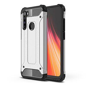 Θήκη Xiaomi Redmi Note 8 OEM Armor Guard Hybrid Πλάτη από σκληρό πλαστικό και TPU Back Cover ασημί