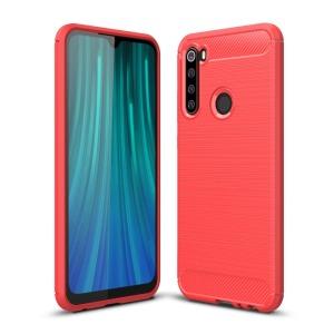 Θήκη Xiaomi Redmi Note 8 OEM Brushed TPU Carbon Back Cover κόκκινο