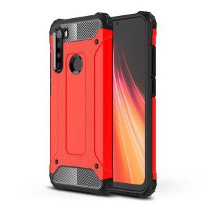 Θήκη Xiaomi Redmi Note 8 OEM Armor Guard Hybrid Πλάτη από σκληρό πλαστικό και TPU Back Cover κόκκινο
