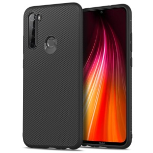 Θήκη Xiaomi Redmi Note 8 OEM Twill Texture Carbon Back Cover TPU μαύρο