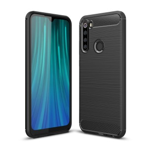 Θήκη Xiaomi Redmi Note 8 OEM Brushed TPU Carbon Back Cover μαύρο