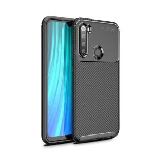 Θήκη Xiaomi Redmi Note 8 OEM Beetle Series Carbon Fiber Back Cover TPU μαύρο