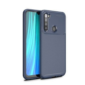 Θήκη Xiaomi Redmi Note 8 OEM Beetle Series Carbon Fiber Back Cover TPU μπλε