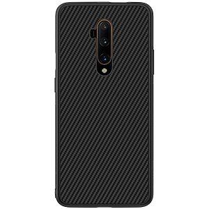 Θήκη OnePlus 7T Pro NiLLkin Synthetic Fiber Series πλάτη από σκληρό πλαστικό και TPU μαύρο