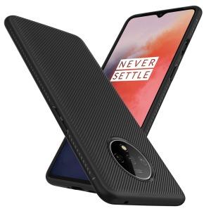 Θήκη OnePlus 7T OEM Twill Texture Carbon Πλάτη TPU μαύρο