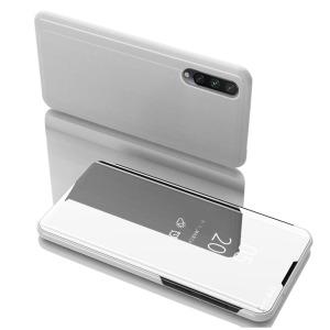 Θήκη Xiaomi Mi 9 Lite OEM Mirror Surface View Stand Case Cover Flip Window ασημί