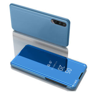 Θήκη Xiaomi Mi 9 Lite OEM Mirror Surface View Stand Case Cover Flip Window γαλάζιο