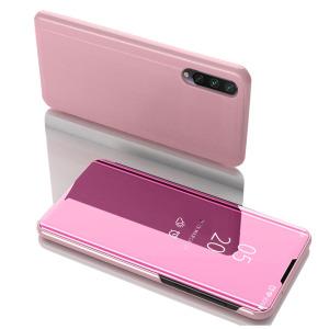 Θήκη Xiaomi Mi 9 Lite OEM Mirror Surface View Stand Case Cover Flip Window ροζ