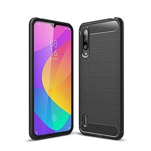 Θήκη Xiaomi Mi 9 Lite OEM Brushed TPU Carbon μαύρο