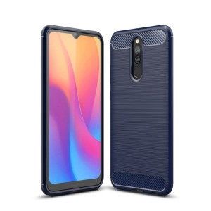 Θήκη Xiaomi Redmi 8 OEM Brushed TPU Carbon μπλε σκούρο