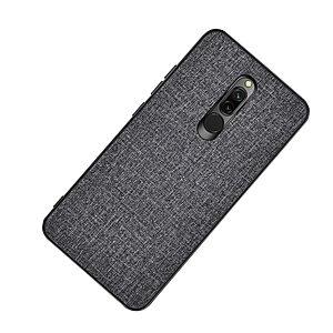 Θήκη Xiaomi Redmi 8 OEM Cloth Texture Πλάτη από ύφασμα και ενισχυμένο TPU γκρι