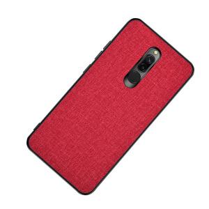 Θήκη Xiaomi Redmi 8 OEM Cloth Texture Πλάτη από ύφασμα και ενισχυμένο TPU κόκκινο