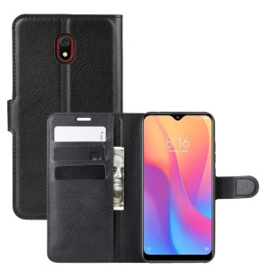 Θήκη Xiaomi Redmi 8A OEM Litchi Texture Leather με βάση στήριξης