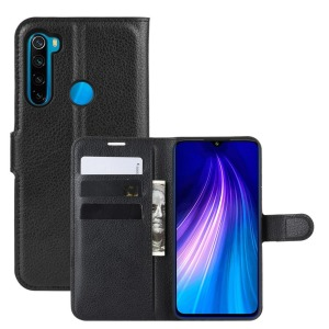 Θήκη Xiaomi Redmi Note 8T OEM Litchi Texture Leather με βάση στήριξης