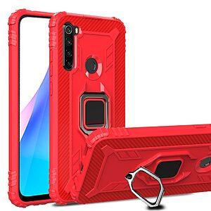 Θήκη Xiaomi Redmi Note 8T OEM Magnetic Ring Kickstand v3 / Μαγνητικό δαχτυλίδι / Βάση στήριξης Πλάτη TPU κόκκινο
