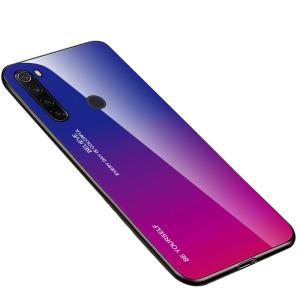 Θήκη Xiaomi Redmi Note 8T OEM Gradient Color Laser Carving Tempered Glass Πλάτη TPU μπλε