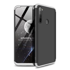 Θήκη GKK Full body Protection 360° από σκληρό πλαστικό για Xiaomi Redmi Note 8T μαύρο / ασημί