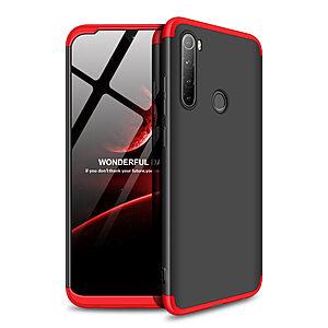Θήκη GKK Full body Protection 360° από σκληρό πλαστικό για Xiaomi Redmi Note 8T μαύρο / κόκκινο
