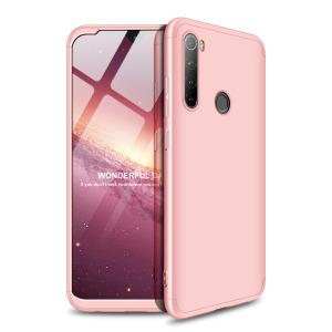Θήκη GKK Full body Protection 360° από σκληρό πλαστικό για Xiaomi Redmi Note 8T ροζ χρυσό