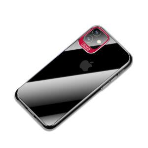 Θήκη iPhone 11 USAMS Classic Series Πλάτη από Premium σκληρό πλαστικό με περίβλημα αλουμινίου για την κάμερα κόκκινο