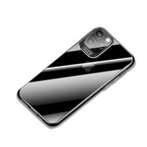 Θήκη iPhone 11 Pro Max USAMS Classic Series Πλάτη από Premium σκληρό πλαστικό με περίβλημα αλουμινίου για την κάμερα μαύρο