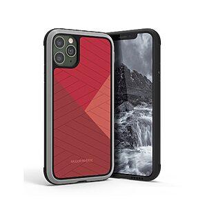 Θήκη iPhone 11 Pro Max RAIGOR INVERSE Beckley Series Πλάτη Premium Drop-Proof από σκληρό TPU κόκκινο