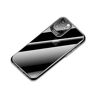 Θήκη iPhone 11 Pro USAMS Classic Series Πλάτη από Premium σκληρό πλαστικό με περίβλημα αλουμινίου για την κάμερα μαύρο