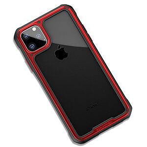 Θήκη iPhone 11 Pro IPAKY Mu Feng Series ανθεκτική και ελαφριά Πλάτη από ενισχυμένο Premium σκληρό TPU κόκκινο