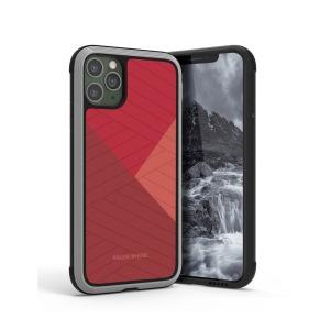 Θήκη iPhone 11 Pro RAIGOR INVERSE Beckley Series Πλάτη Premium Drop-Proof από σκληρό TPU κόκκινο