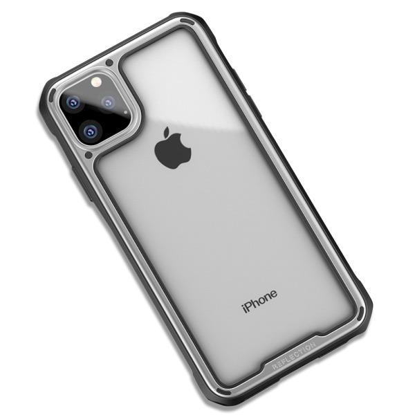 Θήκη iPhone 11 IPAKY Mu Feng Series ανθεκτική και ελαφριά Πλάτη από ενισχυμένο Premium σκληρό TPU ασημί