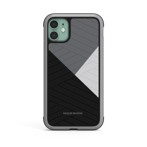Θήκη iPhone 11 RAIGOR INVERSE Beckley Series Πλάτη Premium Drop-Proof από σκληρό TPU μαύρο