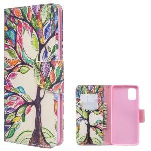 Θήκη Samsung Galaxy A51 OEM Colorized Tree με βάση στήριξης