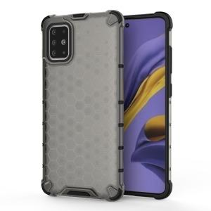 Θήκη Samsung Galaxy A51 OEM Honeycomb Series Πλάτη Hybrid Shock-Proof από ενισχυμένο πλαστικό και TPU γκρι