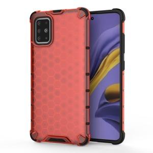 Θήκη Samsung Galaxy A51 OEM Honeycomb Series Πλάτη Hybrid Shock-Proof από ενισχυμένο πλαστικό και TPU κόκκινο