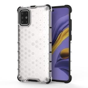 Θήκη Samsung Galaxy A51 OEM Honeycomb Series Πλάτη Hybrid Shock-Proof από ενισχυμένο πλαστικό και TPU λευκό