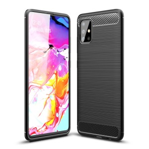 Θήκη Samsung Galaxy A51 OEM Brushed TPU Carbon Πλάτη μαύρο