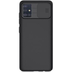 Θήκη Samsung Galaxy A51 NiLLkin Camshield Series Πλάτη με προστασία για την κάμερα από σκλήρό Premium TPU μαύρο