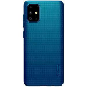 Θήκη Samsung Galaxy A71 NiLLkin Super Frosted Shield Series Πλάτη από Premium σκληρό πλαστικό μπλε