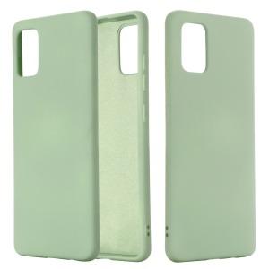 Θήκη Samsung Galaxy A71 OEM Soft Liquid Silicone Πλάτη σιλικόνης πράσινο