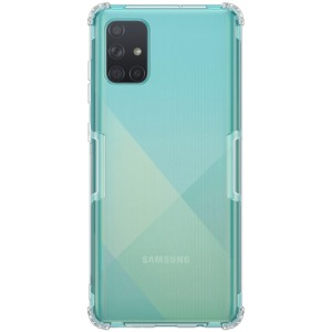 Θήκη Samsung Galaxy A71 NiLLkin Clear Series Πλάτη Shockproof edges Premium Soft TPU γκρι