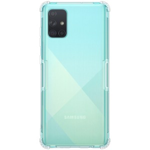 Θήκη Samsung Galaxy A71 NiLLkin Clear Series Πλάτη Shockproof edges Premium Soft TPU λευκό
