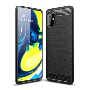 Θήκη Samsung Galaxy A71 OEM Brushed TPU Carbon Πλάτη μαύρο