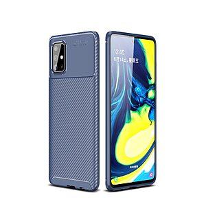 Θήκη Samsung Galaxy A71 OEM Beetle Series Carbon Fiber Πλάτη TPU μπλε