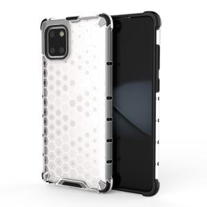 Θήκη Samsung Galaxy Note 10 Lite OEM Honeycomb Series Πλάτη Hybrid Shock-Proof από ενισχυμένο πλαστικό και TPU λευκό