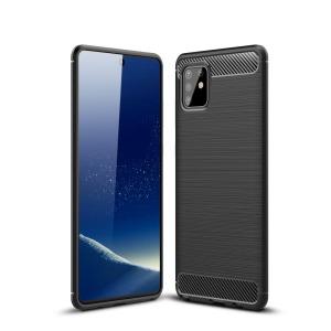 Θήκη Samsung Galaxy Note 10 Lite OEM Brushed TPU Carbon Πλάτη μαύρο